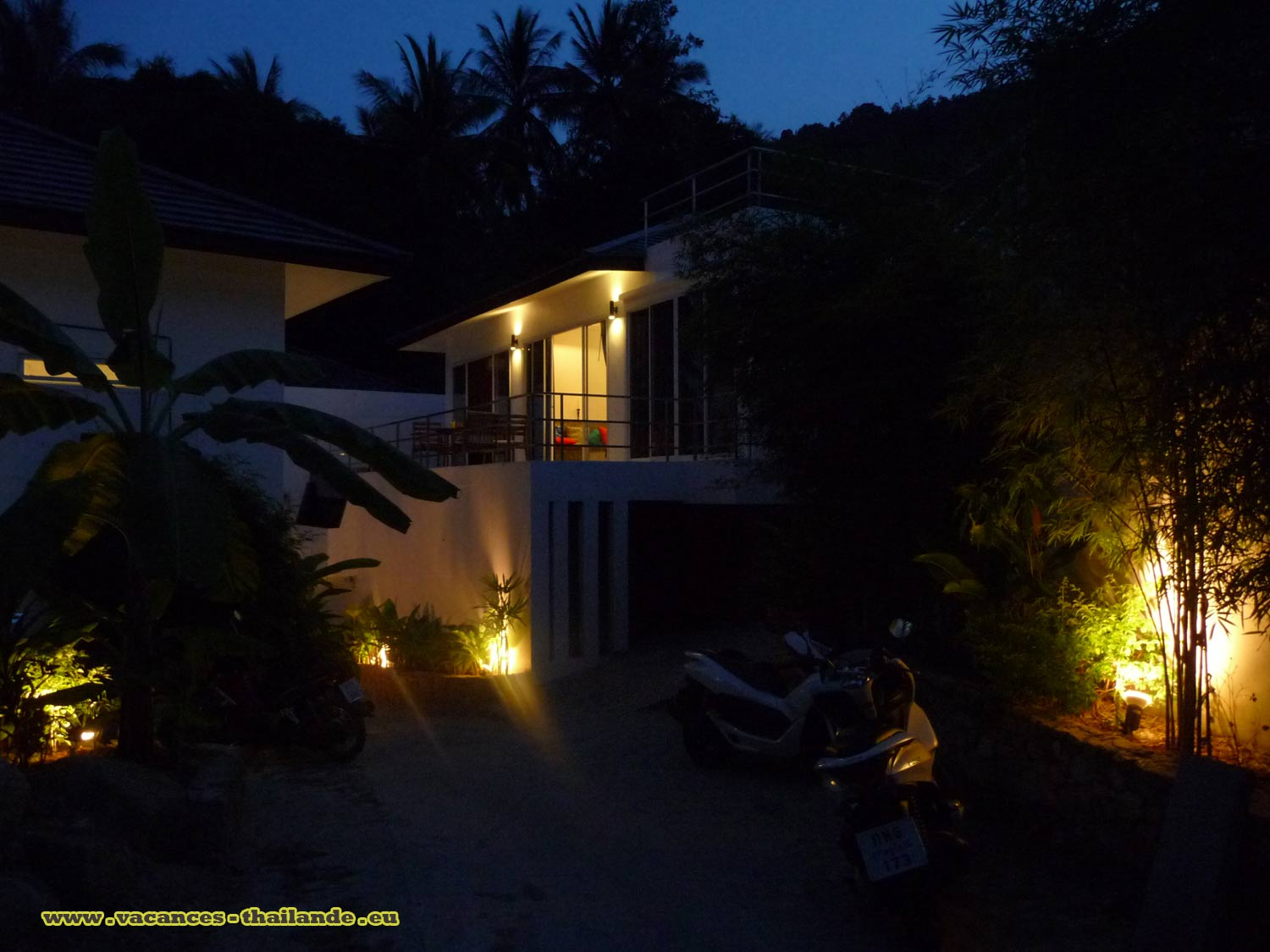 Photo 47 English cheap rental pool villa Koh Samui thailand view the night