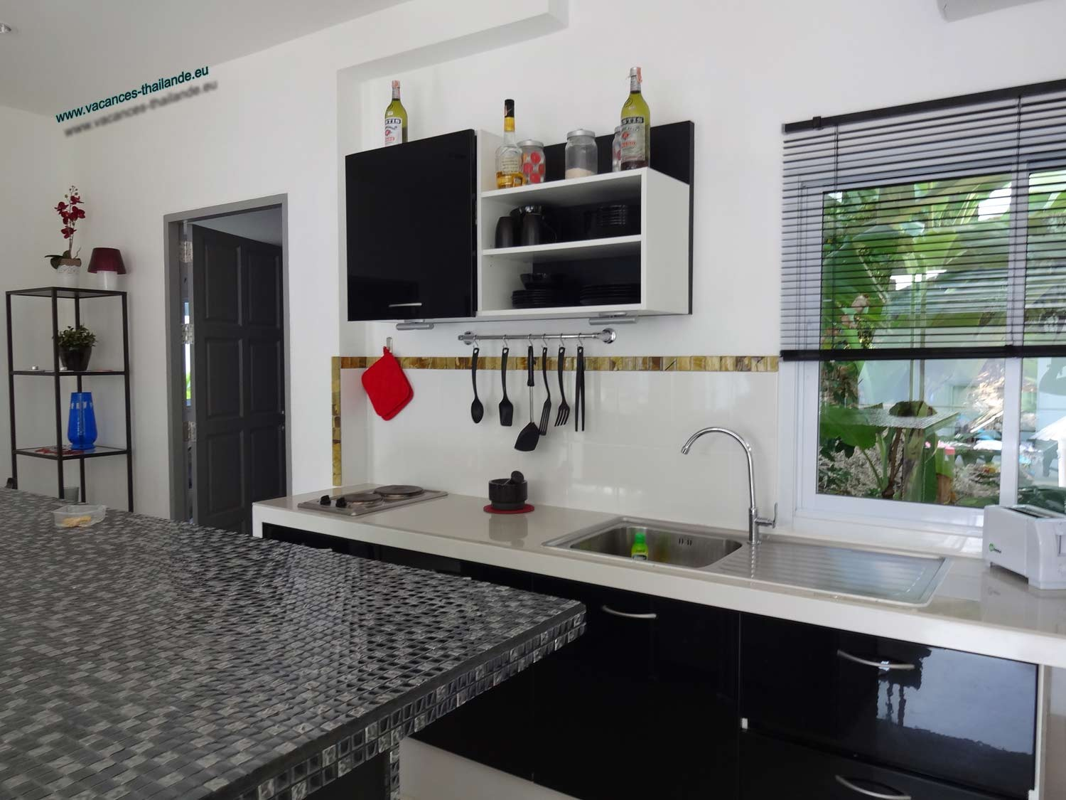 Photo 34 english central plot kitchen electric stove, microwave oven and various accessory koh samui